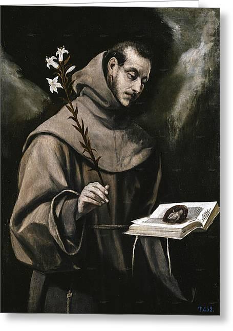 San Antonio De Padua Greeting Card