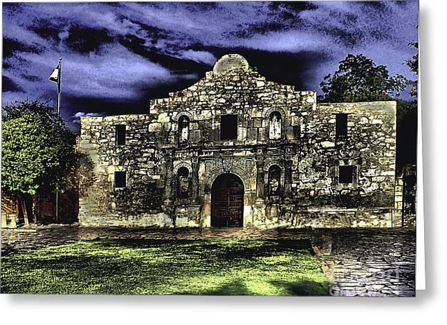 San Antonio E Greeting Card