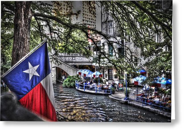 San Antonio Flag Greeting Card