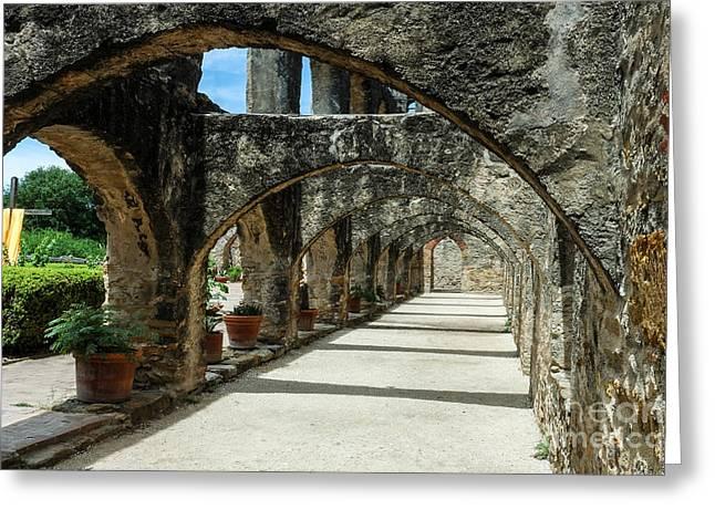 San Antonio Mission Arches Greeting Card
