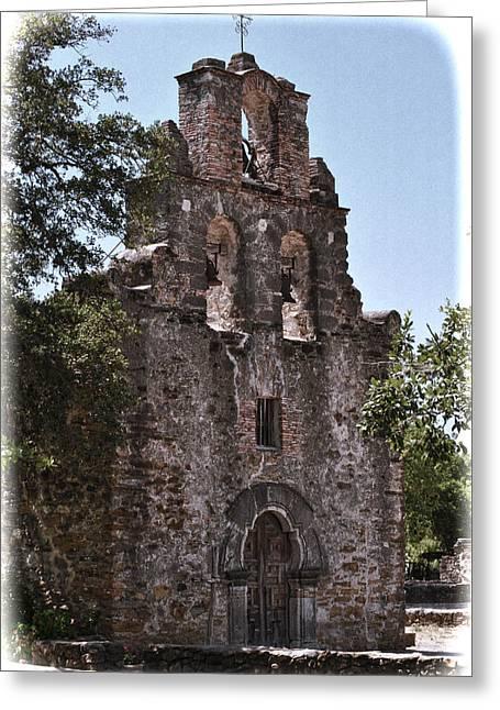 San Antonio Mission Greeting Card by Kathy Williams-Walkup