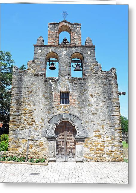 San Antonio Missions National Historical Park Mission Espada Facade Exterior Greeting Card by Shawn O'Brien