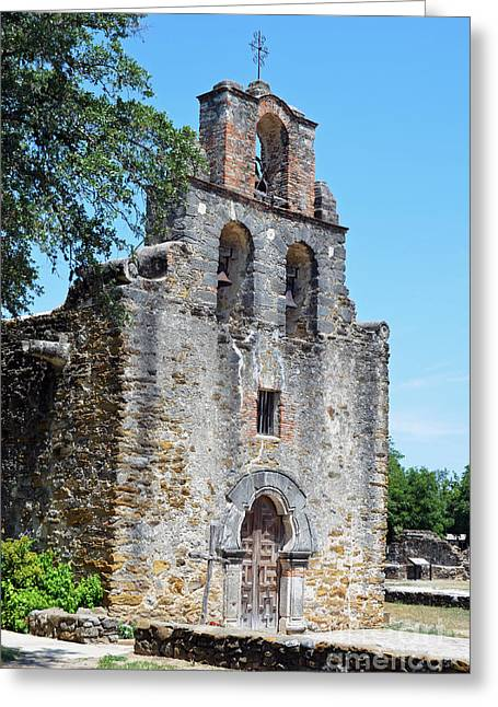 San Antonio Missions National Historical Park Mission Espada Left Exterior Greeting Card by Shawn O'Brien