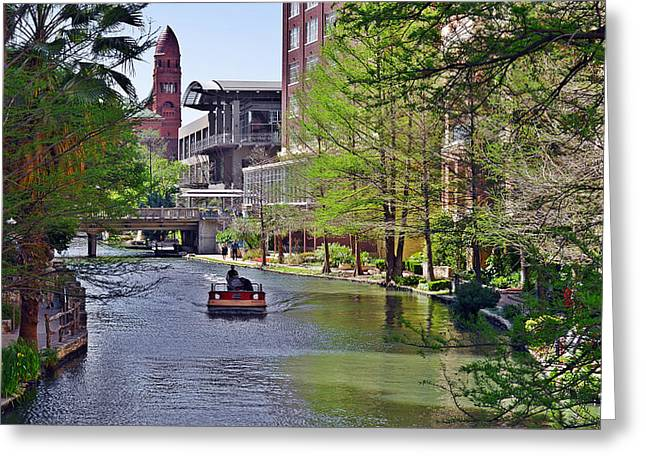San Antonio River Walk Greeting Card by Christine Till