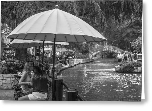 San Antonio River Walk Greeting Card by John McGraw