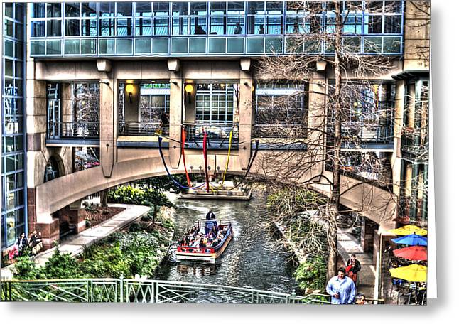 Greeting Card featuring the photograph San Antonio Riverwalk by Deborah Klubertanz