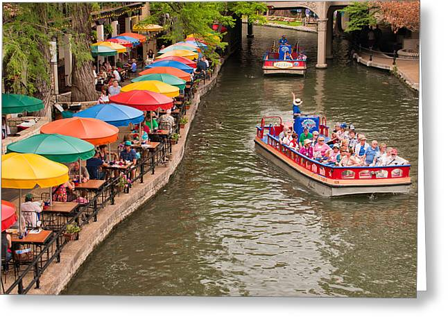 San Antonio Riverwalk - Paseo Del Rio Greeting Card