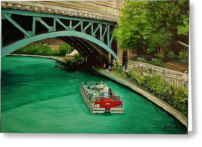 San Antonio Riverwalk Greeting Card by Stefon Marc Brown