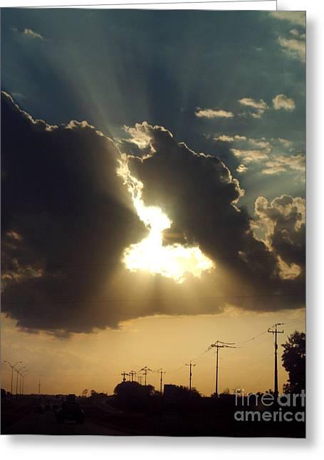 Greeting Card featuring the photograph San Antonio Sunset by Peter Piatt