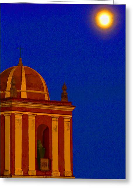 San Bartolome Moonlight Greeting Card by Robin Graham