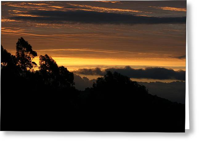 Greeting Card featuring the photograph San Bruno Mountain Storm by Cynthia Marcopulos