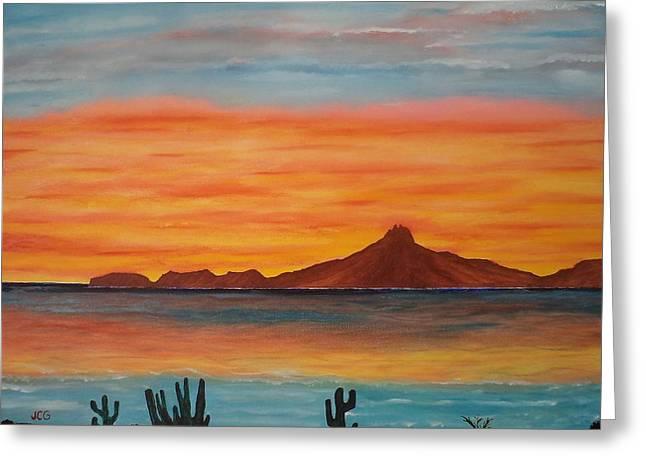 San Carlos Bay Mexico Greeting Card by Jorge Cristopulos