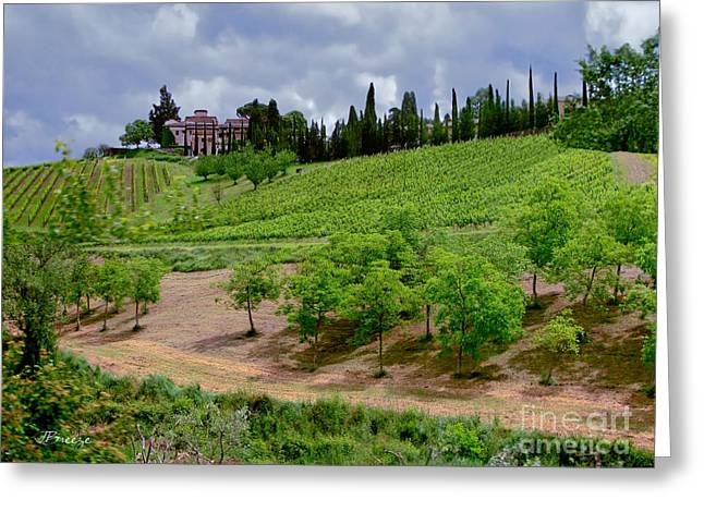 San Casciano In Val Di Pesa- Italy Greeting Card by Jennie Breeze