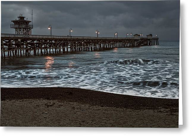 San Clemente Pier Dawn Greeting Card