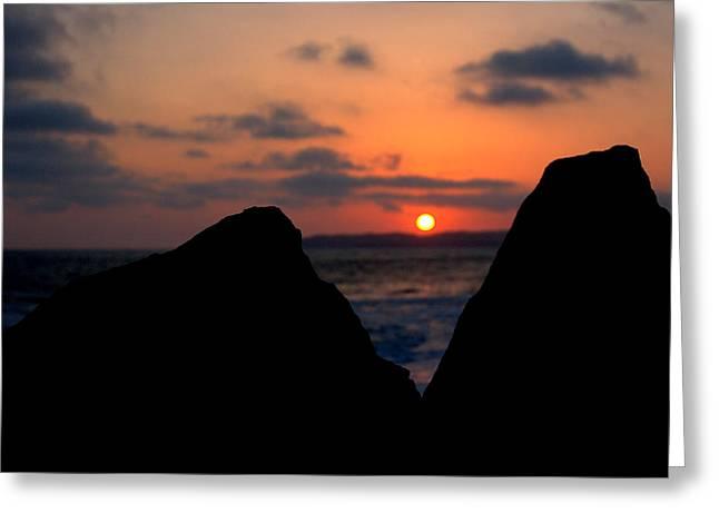San Clemente Rocks Sunset Greeting Card by Matt Harang