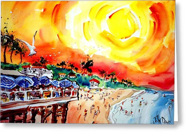 San Clemente Sun Greeting Card by John Dunn