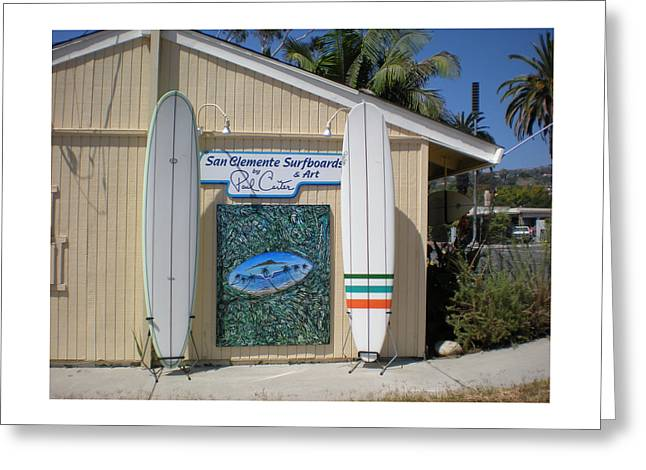 San Clemente Surfboards Greeting Card