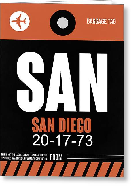 San Diego Airport Poster 3 Greeting Card by Naxart Studio