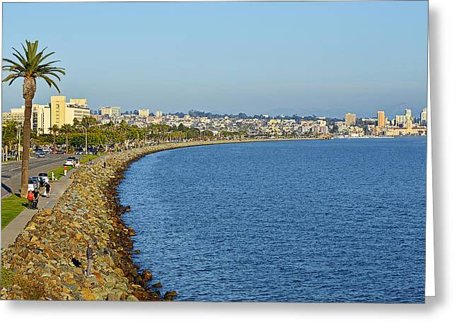San Diego - America's Finest City Greeting Card by Christine Till