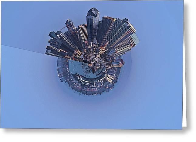 San Diego As Planet Greeting Card