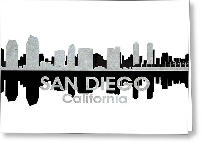 San Diego Ca 4 Greeting Card by Angelina Vick