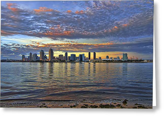 San Diego Colorful Clouds Greeting Card