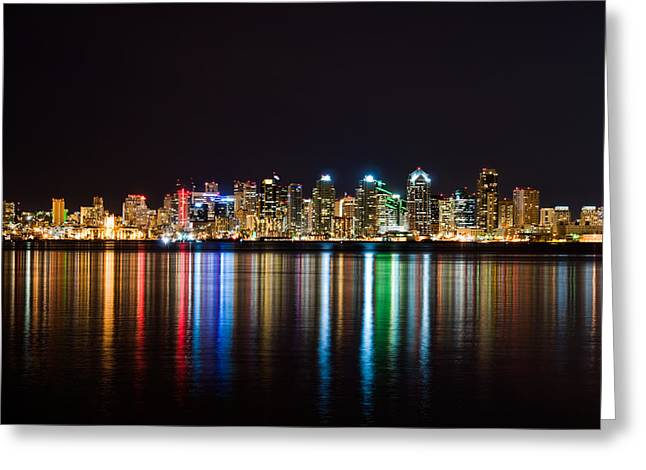 San Diego Colorful Lights Greeting Card
