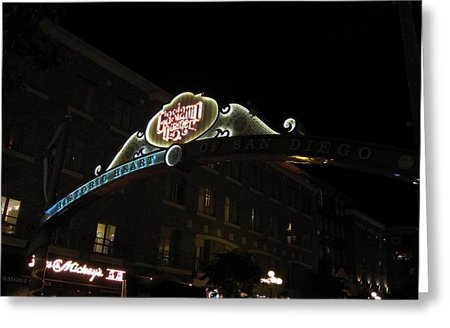 San Diego Gaslamp Quarter - 12121 Greeting Card by DC Photographer