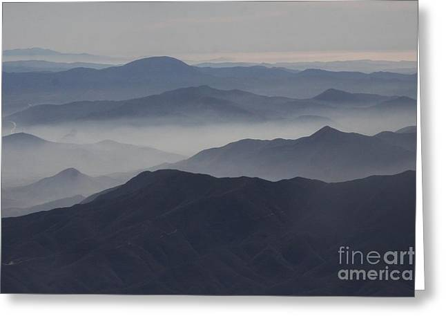 San Diego Hills In Fog And Haze Greeting Card by Darleen Stry
