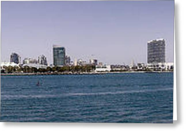 San Diego Panorama Greeting Card by Photographic Art by Russel Ray Photos