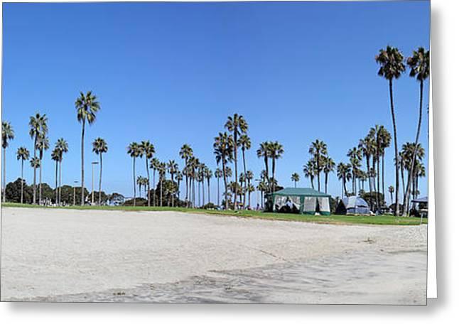 San Diego Panoramic Greeting Card by Tony Cordoza