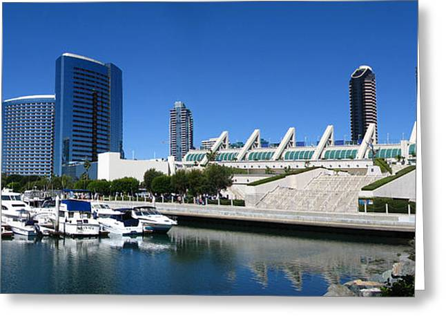 San Diego Panoramic View Greeting Card by Bedros Awak