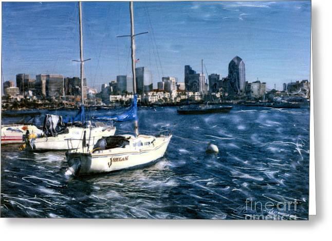 San Diego Sailboats Greeting Card