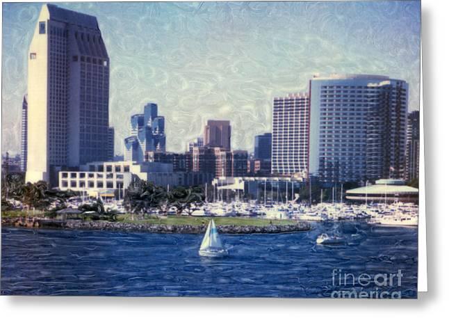 San Diego Sailing Greeting Card