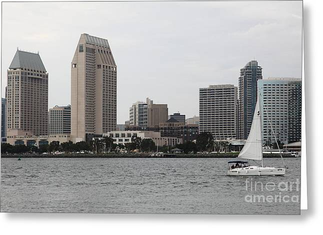 San Diego Skyline 5d24333 Greeting Card by Wingsdomain Art and Photography
