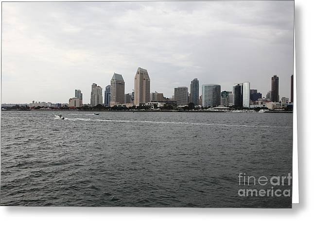 San Diego Skyline 5d24336 Greeting Card by Wingsdomain Art and Photography