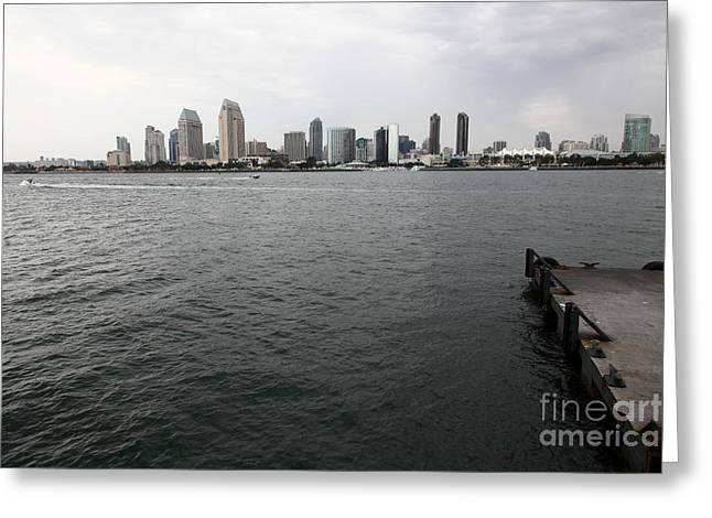 San Diego Skyline 5d24337 Greeting Card by Wingsdomain Art and Photography