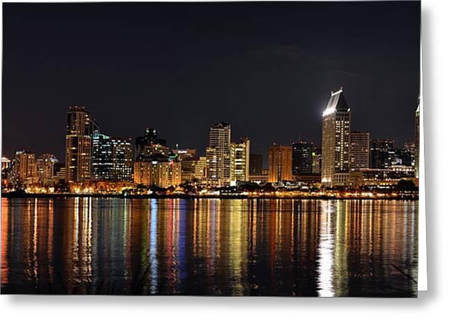 San Diego Skyline Panorama Greeting Card by Art K