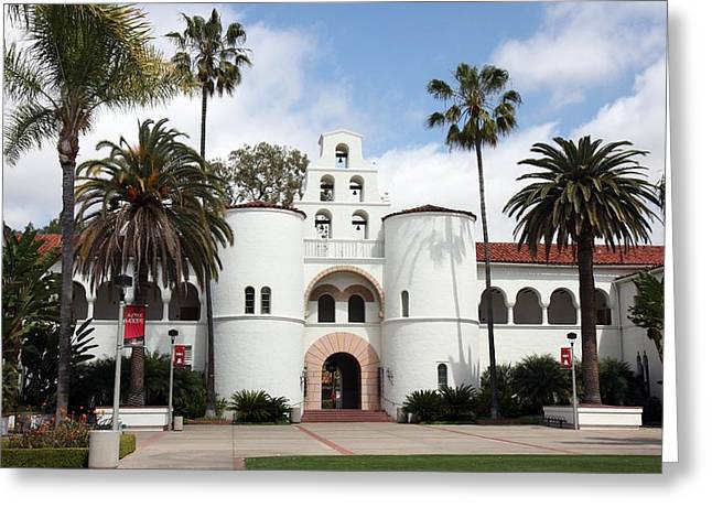 Greeting Card featuring the photograph San Diego State University by Nathan Rupert