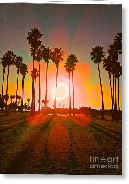San Diego Sun  Greeting Card by Reina Kawazoe