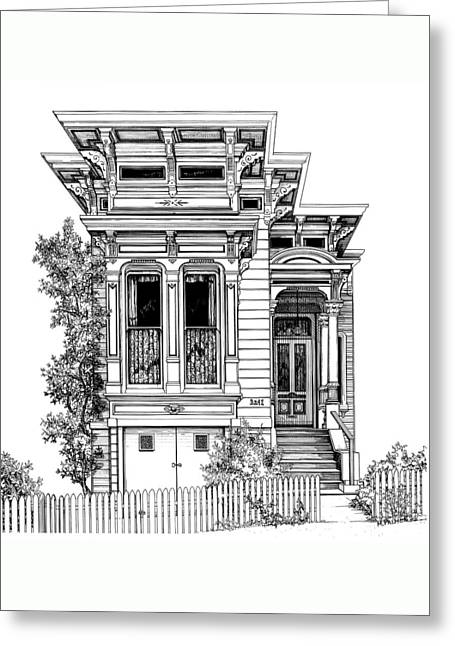 San Fracisco Victorian2 Greeting Card