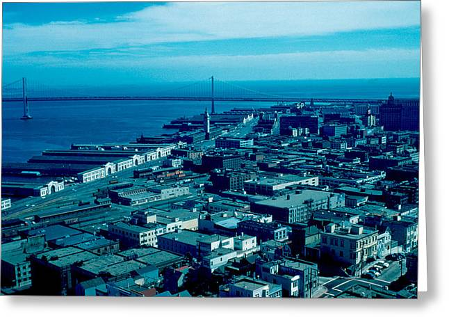 San Francisco 10 1955 Greeting Card by Cumberland Warden