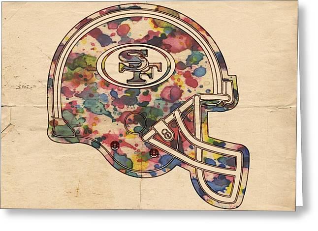 San Francisco 49ers Helmet Poster Greeting Card