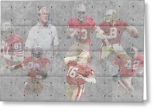 San Francisco 49ers Legends Greeting Card by Joe Hamilton