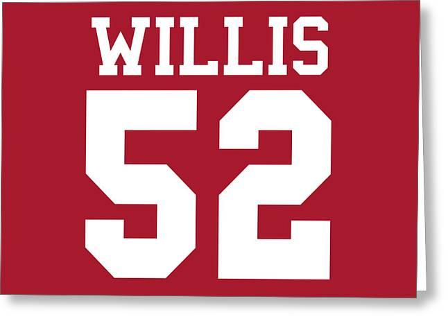 San Francisco 49ers Patrick Willis Greeting Card by Joe Hamilton