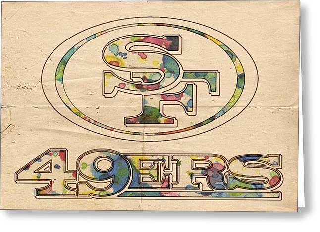 San Francisco 49ers Poster Vintage Greeting Card