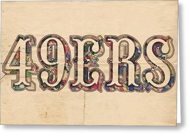 San Francisco 49ers Vintage Logo Greeting Card