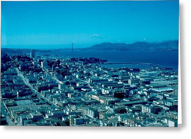 San Francisco 6 1955 Greeting Card by Cumberland Warden