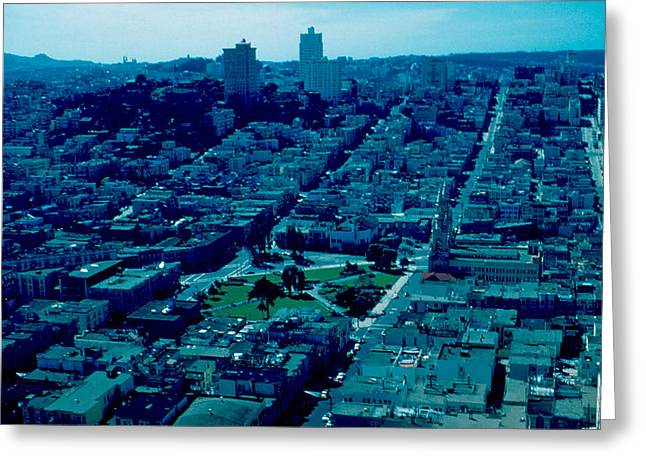 San Francisco 7 1955 Greeting Card by Cumberland Warden