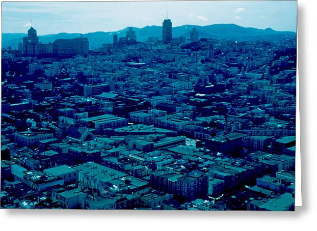 San Francisco 8 1955 Greeting Card by Cumberland Warden